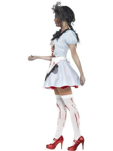 Horror Zombie Dorothy Fancy Dress Costume Thumbnail 3