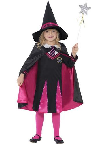 Witch School Girl Fancy Dress Costume Thumbnail 1