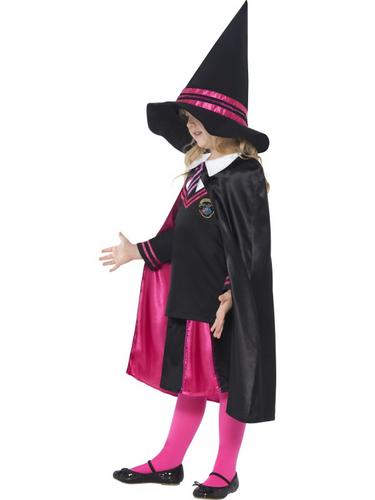 Witch School Girl Fancy Dress Costume Thumbnail 3