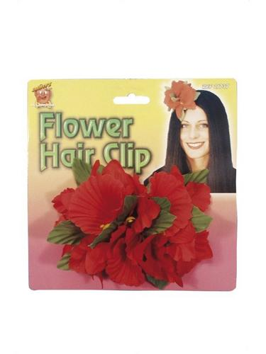 Hawaiian Flower Clip Red Thumbnail 2