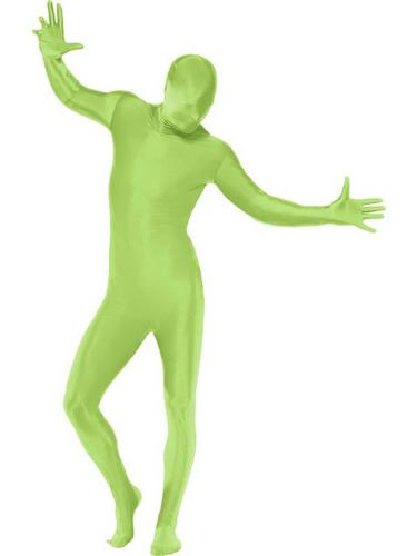 Green Second Skin Suit Fancy Dress Costume Thumbnail 1