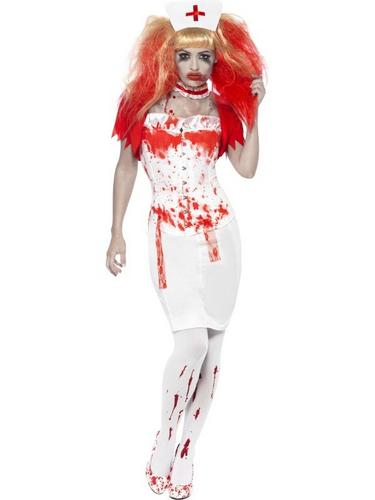 Blood Drip Nurse Fancy Dress Costume Thumbnail 1