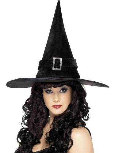 Black Witch Fancy Dress Hat Thumbnail 1