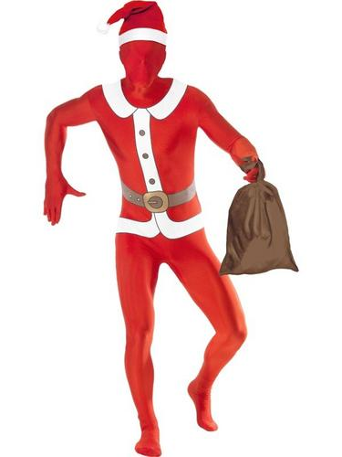 Santa Second Skin Suit Fancy Dress Costume Thumbnail 1