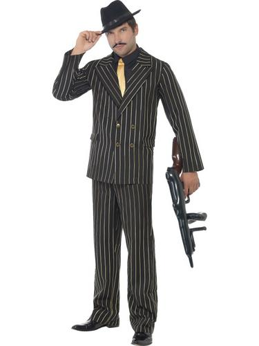 Gold Pinstripe Gangster Costume Thumbnail 1