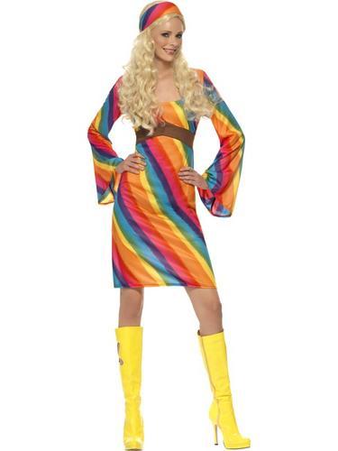 Rainbow Hippie Costume Thumbnail 1