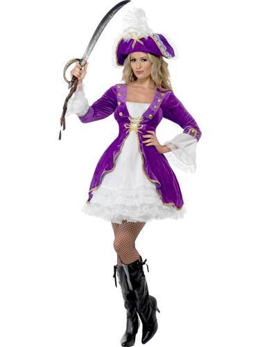 Purple Pirate Beauty Costume Thumbnail 1