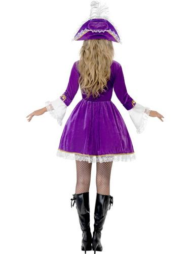 Purple Pirate Beauty Costume Thumbnail 2