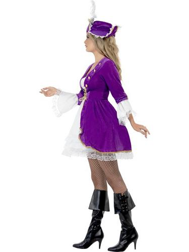 Purple Pirate Beauty Costume Thumbnail 3