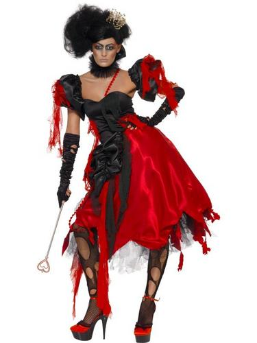 Queen Of Hearts Fancy Dress Costume Thumbnail 1