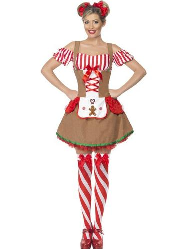 Gingerbread Woman Fancy Dress Costume Thumbnail 1