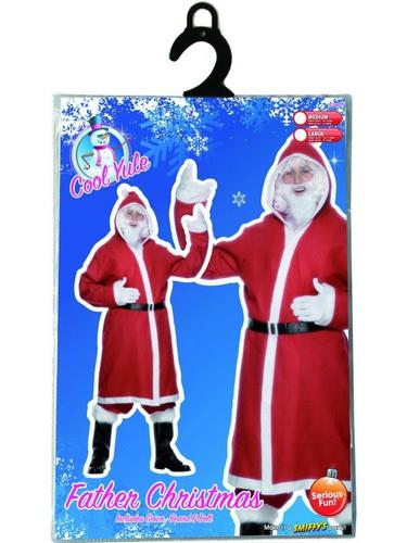 Father Christmas Gown Fancy Dress Costume Thumbnail 3