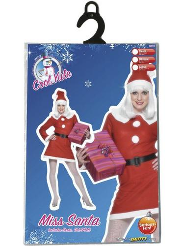 Bargain Miss Santa Fancy Dress Costume Thumbnail 3