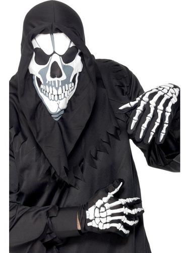 Skull Fancy Dress Mask and Gloves Thumbnail 1