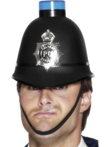 Police Helmet with Light Thumbnail 1