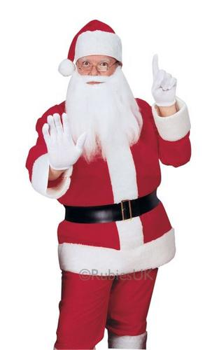 Flannelette Santa Suit Fancy Dress Costume Thumbnail 1