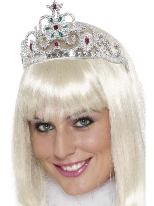Adult Ladies Princess Tiara with Jewels Fancy Dress Costume Dress Up Accessory  Thumbnail 1