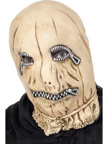 Zip Face Overhead Fancy Dress Mask Thumbnail 1