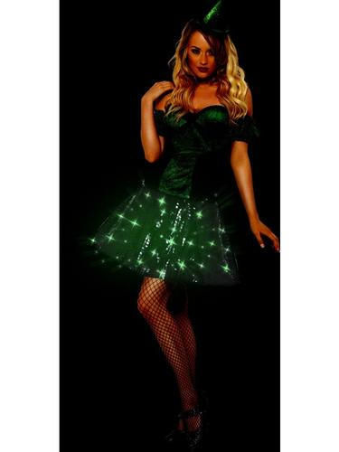 Wicked Witch Light Up Fancy Dress Costume Thumbnail 3