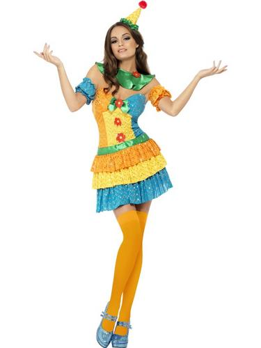 Fever Colourful Clown Cutie Costume Thumbnail 2