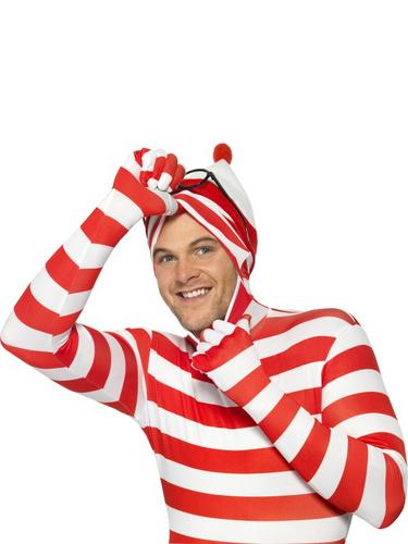 Wheres Wally? Second Skin Fancy Dress Costume Thumbnail 3