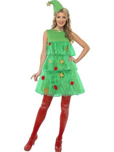 Christmas Tree Tutu Fancy Dress Costume Thumbnail 1
