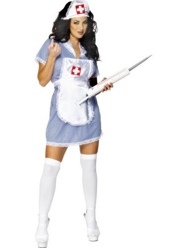 Sexy Nurse Fancy Dress Costume Thumbnail 2