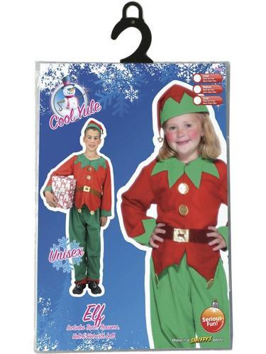 Childs Elf Fancy Dress Costume Thumbnail 3