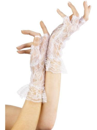 Fingerless Gloves White Thumbnail 1