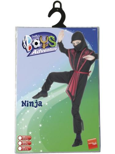 Boys Ninja Fancy Dress Costume Thumbnail 3