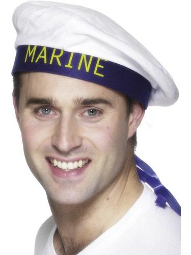 Marine Sailor Boy Fancy Dress Hat Thumbnail 1