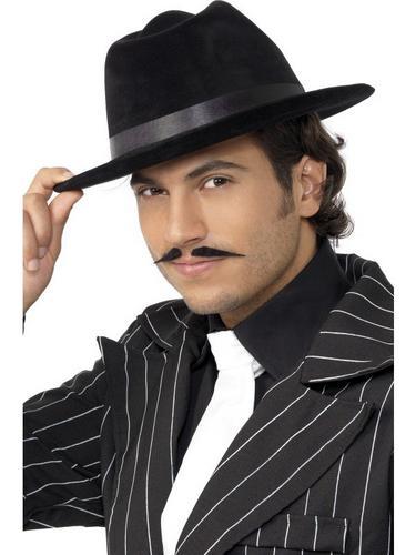Gangster Fancy Dress Hat Black Thumbnail 1