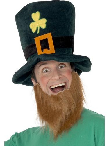 Leprechaun Fancy Dress Hat and Beard Thumbnail 1
