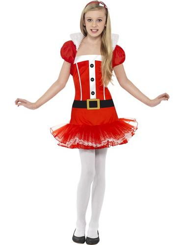 Little Miss Santa Tutu Fancy Dress Costume Thumbnail 1