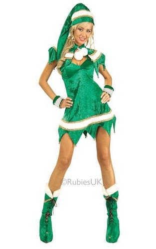 Sexy Elf Fancy Dress Costume Thumbnail 1