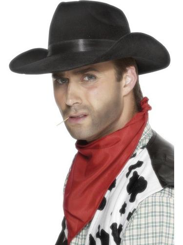 Indestructible Cowboy Fancy Dress Hat Black Thumbnail 1