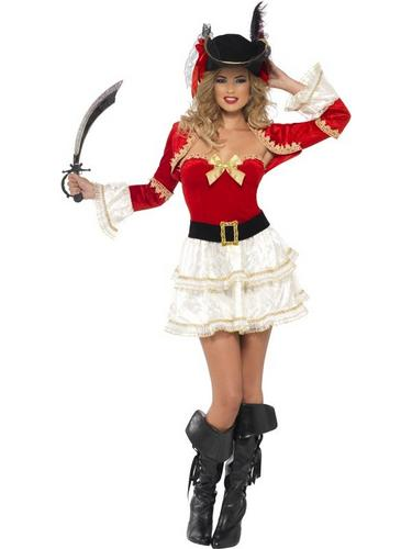 Boutique Plentiful Pirate Fancy Dress Costume Thumbnail 1