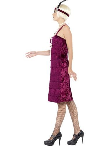 Jazz Flapper Costume, Red Thumbnail 3