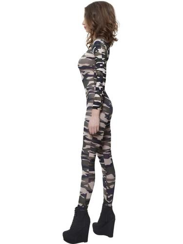 Camoflage Bodysuit Fancy Dress Costume Thumbnail 3
