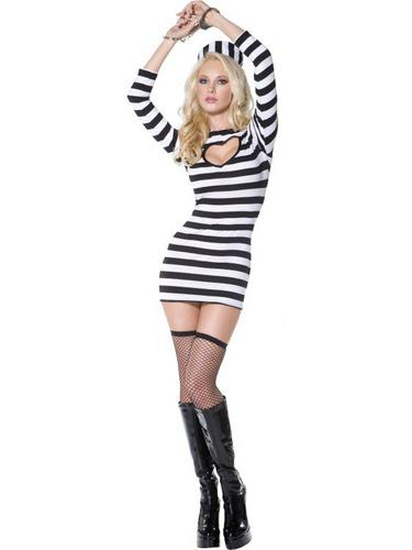 Sexy Convict Fancy Dress Costume Thumbnail 2