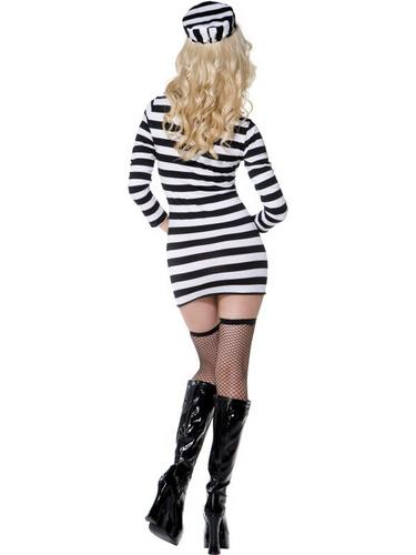 Sexy Convict Fancy Dress Costume Thumbnail 3