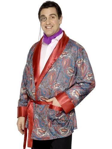 Smoking Jacket Fancy Dress Costume Thumbnail 1