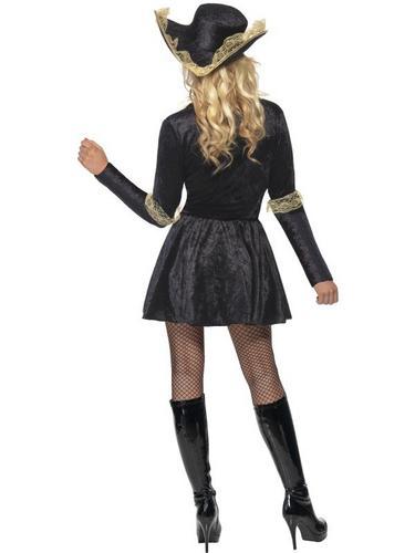 Sexy Black Swashbuckler Fancy Dress Costume Thumbnail 3