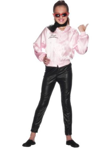 Girls Pink Lady Fancy Dress Costume Thumbnail 1
