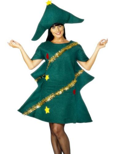 Christmas Tree Fancy Dress Costume Thumbnail 1
