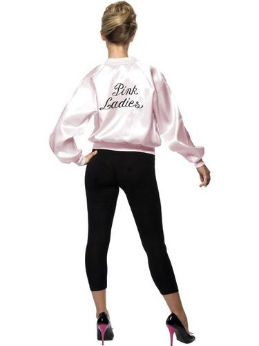 Pink Lady Jacket Fancy Dress Costume For Grease Thumbnail 2