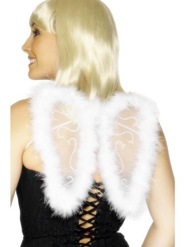 Mini Glitter Wings   White Thumbnail 1