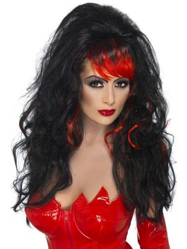 Seductress Fancy Dress Wig Black Thumbnail 1