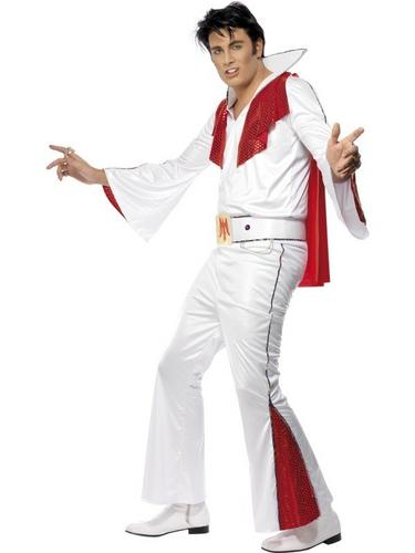 Elvis Fancy Dress Costume with Cape Thumbnail 1