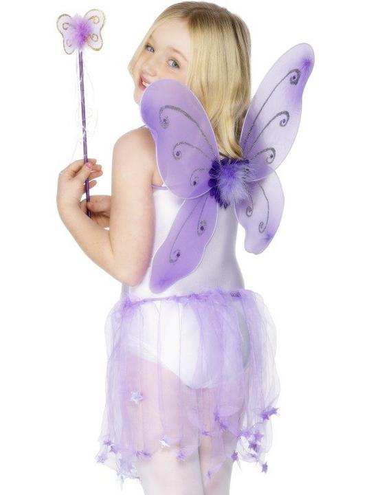 Butterfly Wings and Wand Purple Thumbnail 1